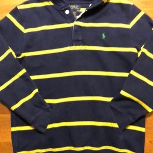 POLO Ralph Lauren hoodie rugby navy/yellow L 14-16